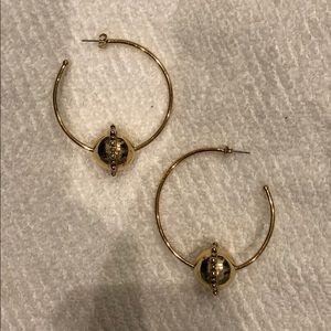 LUV AJ - Baroque Statement Earrings, Gold